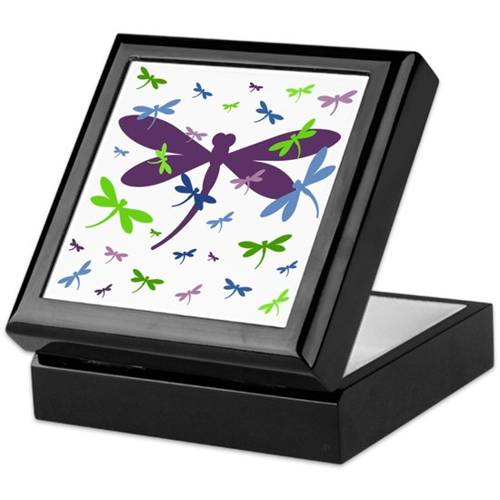 Dragonflies Pattern - Blue, Green, and Purple