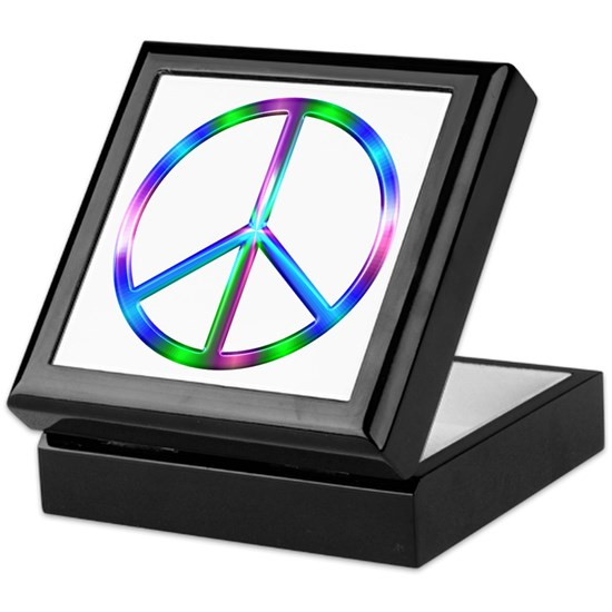 Shiny Colorful Peace Sign