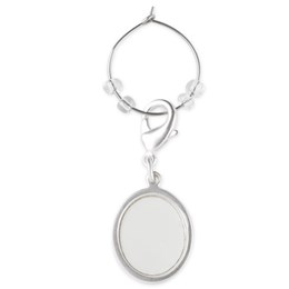Small Oval Wine Charm