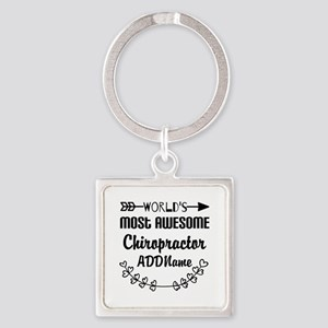Personalized Worlds Most Awesome C Square Keychain