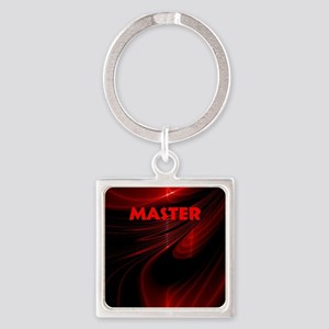 bondage black and red Master Square Keychain