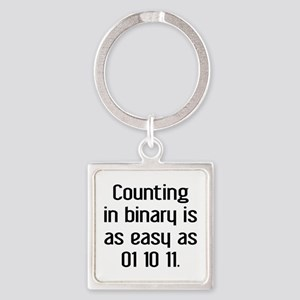 Counting In Binary Square Keychain