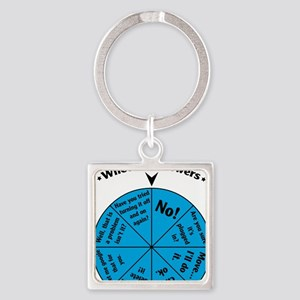 IT Wheel of Answers Square Keychain