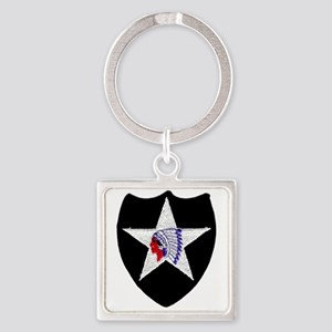 2nd INFANTRY DIVISION Square Keychain