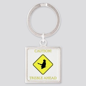 Irish Dance Caution Square Keychain