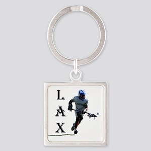 Lacrosse player for logo generic d Square Keychain