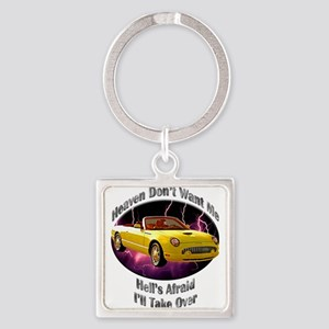 Ford Thunderbird Square Keychain