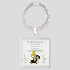 Color Guard vs. Cheerleading Square Keychain