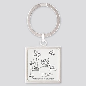6677_juggling_cartoon Square Keychain