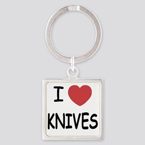 KNIVES Square Keychain