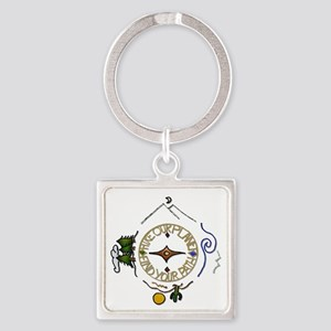 Hiker's Soul Compass Keychains