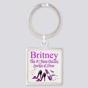 BEST NURSE Square Keychain