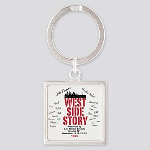 New West Side Square Keychain