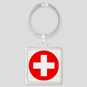 Switzerland Roundel Square Keychain