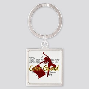 TJ Raider Color Guard Square Keychain