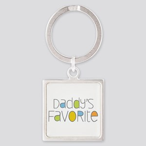 Daddy's Favorite Square Keychain