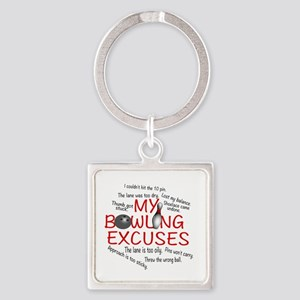 MY BOWLING EXCUSES Square Keychain