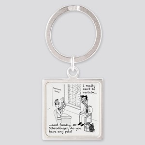 Schrodingers Apartment Square Keychain