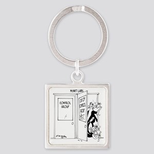 6727_science_cartoon Square Keychain