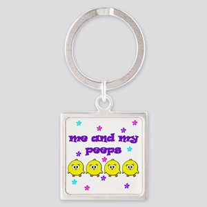 ME AND MY PEEPS - L PURPLE Square Keychain