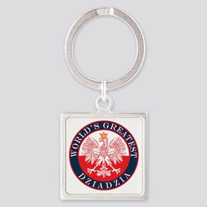Worlds Greatest Dziadzia Square Keychain