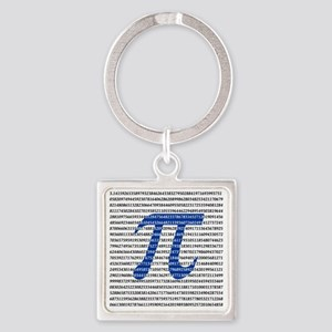 1018-digits-of-pi-1-black copy Square Keychain