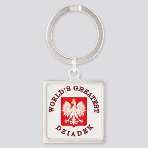 Worlds Greatest Dziadek Square Keychain