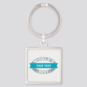 Worlds Best Personalized Square Keychain