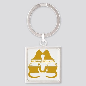 Numerous Cats Square Keychain