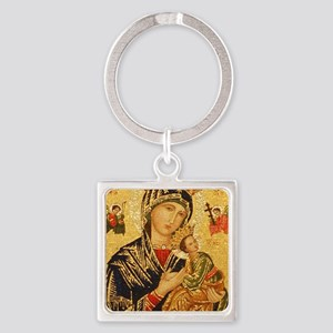Our Lady of Perpetual Help Square Keychain