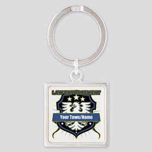 Law Enforcement Eagle Heraldry Square Keychain