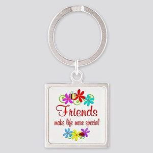 Special Friend Square Keychain