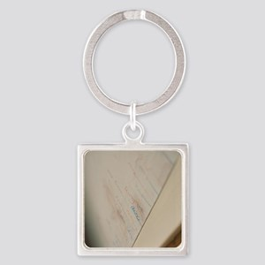 Height measurement Square Keychain