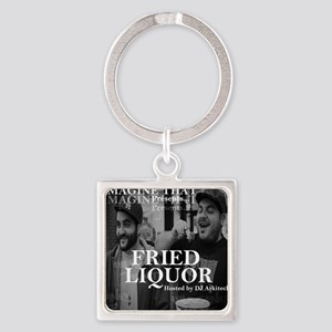 Fried Liquor Cover Square Keychain