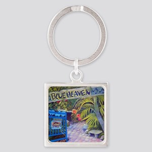 Blue Heaven New View framed print Square Keychain