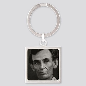 Beardless Lincoln Square Keychain
