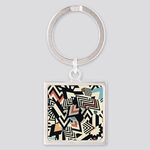 Abstract Pattern Keychains