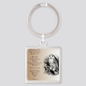 Owl with poem Keychains