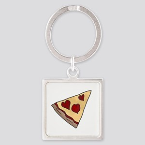 Piece of My Heart Pizza Slice Matching Keychains