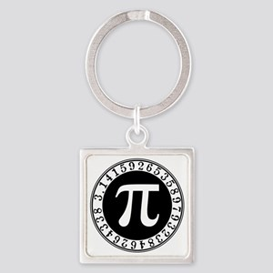 Pi sign in circle Keychains