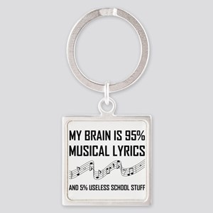 Brain Musical Lyrics Funny Keychains