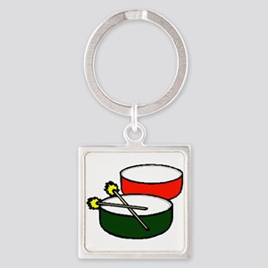 steel pan drums red green y Keychains