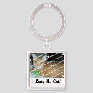 CUSTOMIZE Add Photo Love Cat Keychains