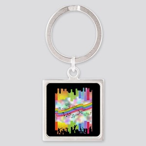 Colorful Musical Theme Keychains