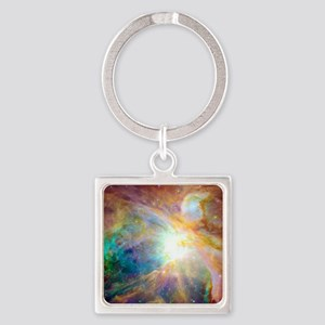 Space Galaxy Square Keychain