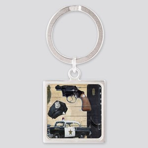 Police Square Keychain