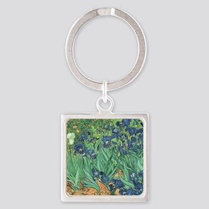Irises, 1889 by Vincent Van Gogh Square Keychain