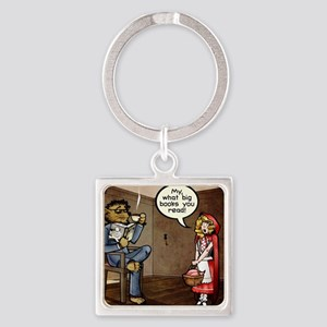 My, what big books you read! Square Keychain