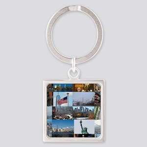 New York Pro Photo Montage-Stunnin Square Keychain