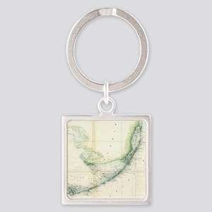 Vintage Map of The Florida Keys (1859) Keychains